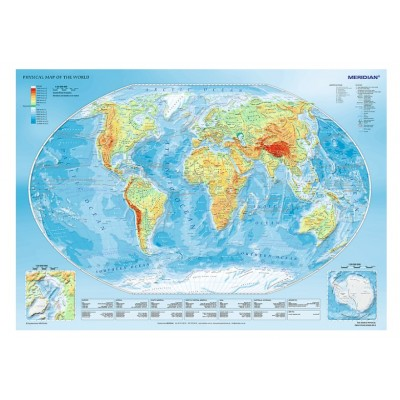 Puzzle Trefl-10463 Physical Map of the World