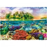 Puzzle  Trefl-11113 Crazy Shapes - Tropical Island