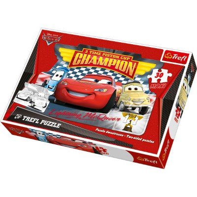Puzzle Trefl-14164 Große Teile recto / verso - Cars
