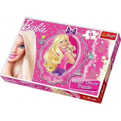 Trefl-14604 Barbie Puzzle Magic Decor