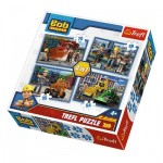 Trefl-34270 4 Puzzles - Bob The Builder