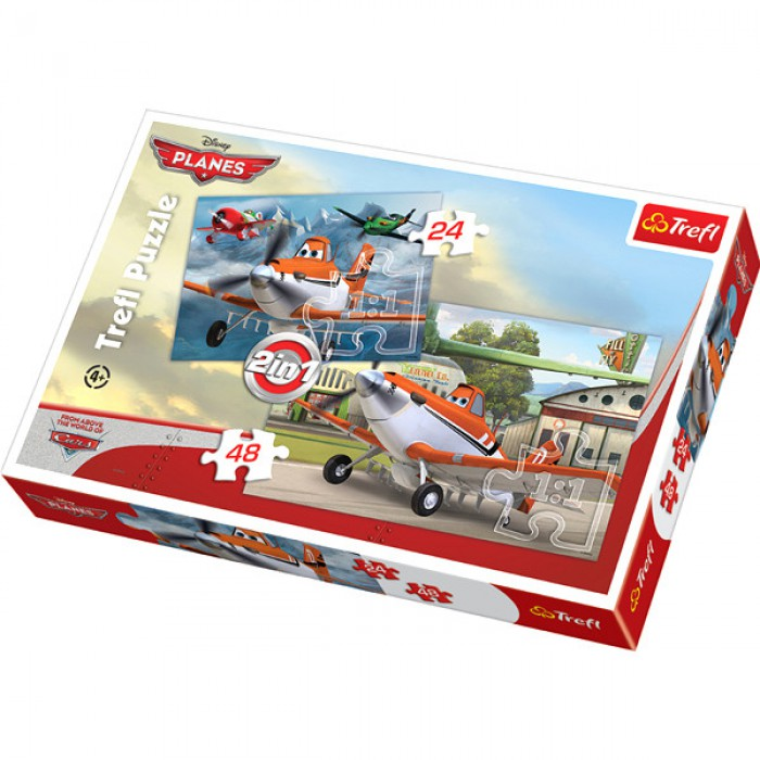 2 in 1 Puzzle: Flugzeuge