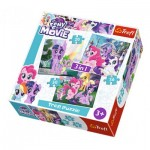 Trefl-34823 3 Puzzles - My Little Pony