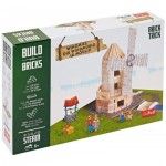 Puzzle  Trefl-60984 Build with Bricks - Die Windmühle