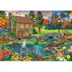 Puzzle  Trefl-65006 Cottage in the Mountains
