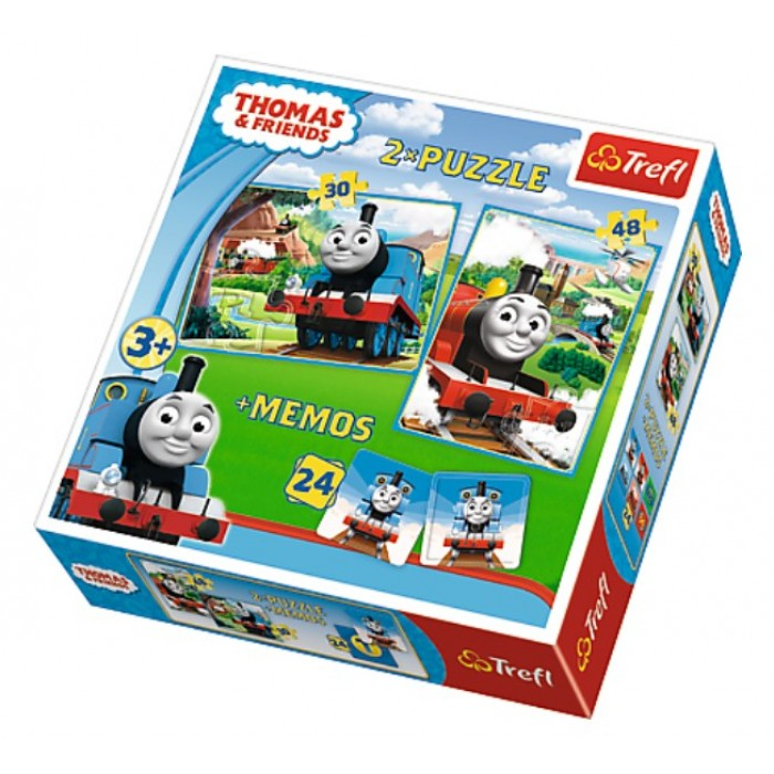 2 Puzzles + Memo - Thomas & Friends