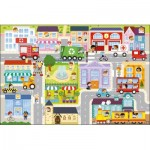 Trefl-90754 Riesen-Bodenpuzzle - In the Small Town