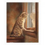 Puzzle   Lucie Bilodeau - Peering Out The Window