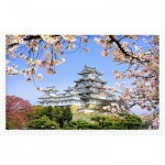Pintoo-H1436 Puzzle aus Kunststoff - Himeji-jo Castle in Spring Cherry Blossoms