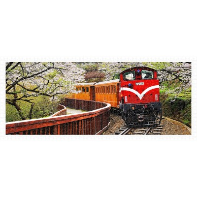 Pintoo-H1483 Puzzle aus Kunststoff - Forest Train in Alishan National Park