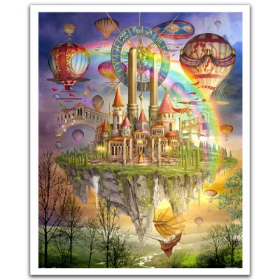 Pintoo-H1561 Puzzle aus Kunststoff 2000 Teile - Cirot Marchetti: Tarot Town