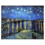Pintoo-H1761 Puzzle aus Kunststoff - Vincent Van Gogh - Starry Night Over The Rhone, 1888