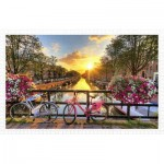 Pintoo-H1770 Puzzle aus Kunststoff - Beautiful Sunrise Over Amsterdam