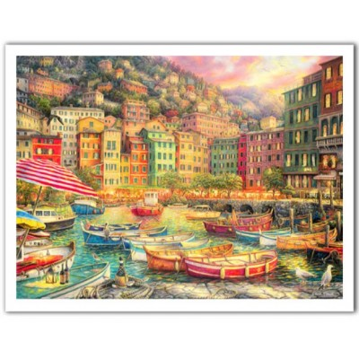 Pintoo-H2057 Puzzle aus Kunststoff - Chuck Pinson - Vibrance of Italy