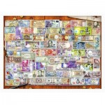 Pintoo-H2086 Puzzle aus Kunststoff - Garry Walton - Currency of the World