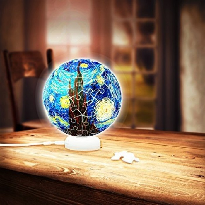 3D Puzzle - Sphere Light - Van Gogh