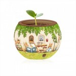 Pintoo-K1023 3D Puzzle - Flower Pot - Happy Reading