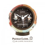 Pintoo-KC1001 3D Puzzle Clock - Love is Key to Happiness