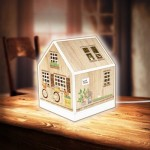 Pintoo-R1005 3D Puzzle - House Lantern - Little Wooden Cabin
