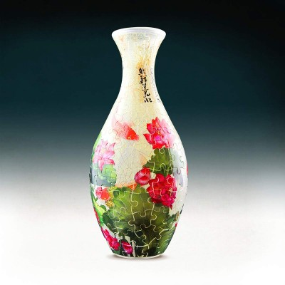 Pintoo-S1024 3D Puzzle Vase - Carp with Lotus
