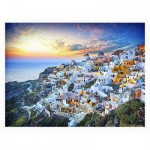 Puzzle aus Kunststoff - Beautiful Sunset of Greece