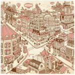Puzzle aus Kunststoff - Happiness Town