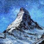 Puzzle aus Kunststoff - Light of Zermatt, Switzerland