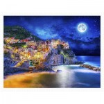 Puzzle aus Kunststoff - Starry Night of Cinque Terre, Italy