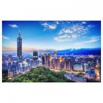 Puzzle aus Kunststoff - The Beautiful Sunset of Taipei
