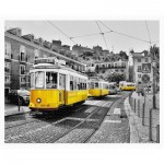 Puzzle aus Kunststoff - Yellow Trams in Lisbon