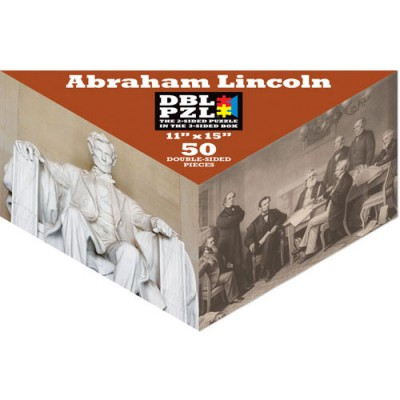 Pigment-and-Hue-DBLLINC-00803 Beidseitiges Puzzle - Abraham Lincoln