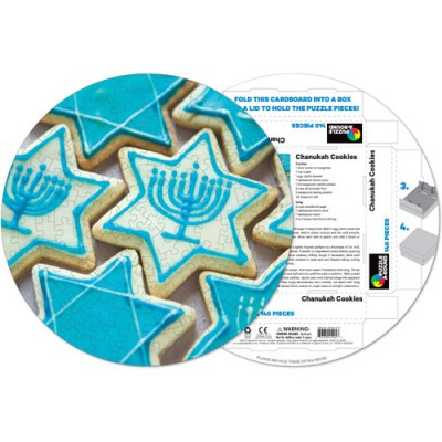 Pigment-and-Hue-RCHK-41204 Fertiges Rundpuzzle - Cookies Chanukah
