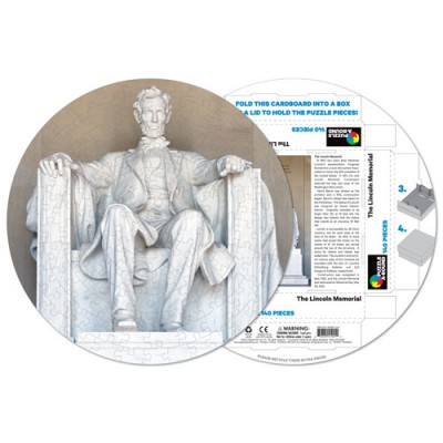 Pigment-and-Hue-RLINC-41201 Fertiges Rundpuzzle - Lincoln Memorial