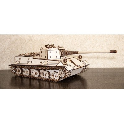 Eco-Wood-Art-04 3D Holzpuzzle - Tank Lowe