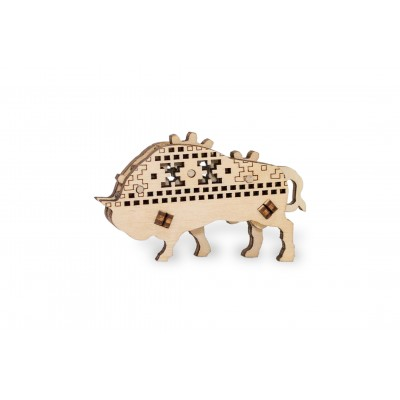 Eco-Wood-Art-52 3D Holzpuzzle - Bison