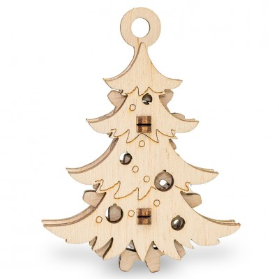Eco-Wood-Art-55 3D Holzpuzzle - Weihnachtsbaum
