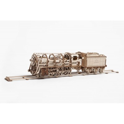 Ugears-12023 3D Holzpuzzle - Steam Locomotive with Tender