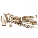 Ugears-12057 3D Holzpuzzle - Tram Line