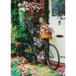 Puzzle  Art-Puzzle-4166 Bicycle and Flowers