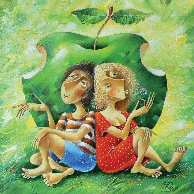 Puzzle Art-Puzzle-4399 Yury Matsik: The Forbidden Apple