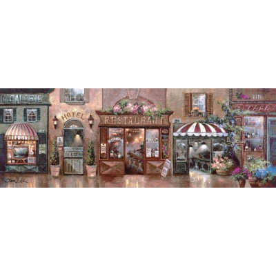 Puzzle Art-Puzzle-4420 James Lee: Cafe Walk I
