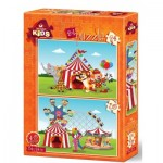 Art-Puzzle-4491 2 Puzzles - The Circus and The Fun Fair