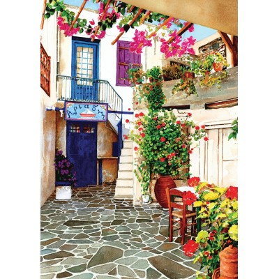Puzzle Art-Puzzle-4581 Flower Courtyard