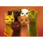 Puzzle  Art-Puzzle-5092 The Team of Cats