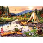 Puzzle  Art-Puzzle-5520 Camping Friends