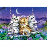 Puzzle   Kittens swinging in the Moonlight