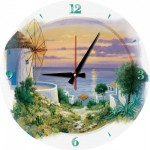 Puzzle-Uhr - In the Evening in Aegean