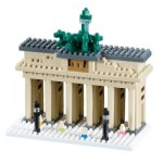 Brixies-58207 Nano 3D Puzzle - Brandenburger Tor (Level 4)