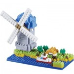 Brixies-58210 Nano 3D Puzzle - Windmühle (Level 3)