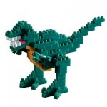 Brixies-58459 3D Nano Puzzle - Dinosaurier